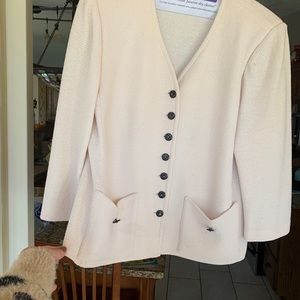 St. John winter white blazer